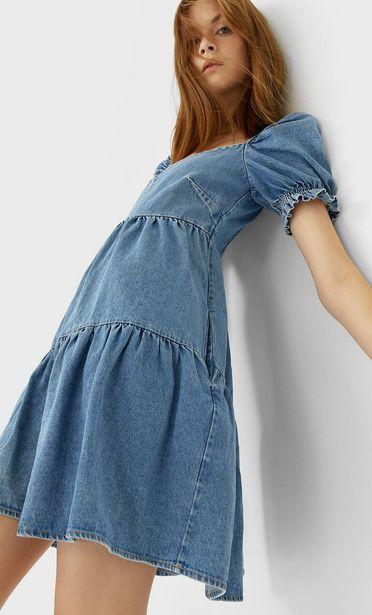 Oferta de Vestido denim manga abullonada por 5,99€