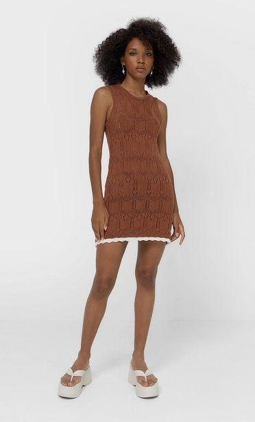 Oferta de Vestido crochet zig zag por 19,99€