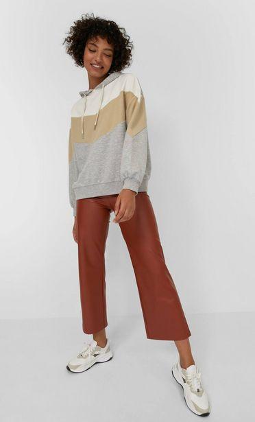 Oferta de Pantalón culotte efecto piel por 15,99€