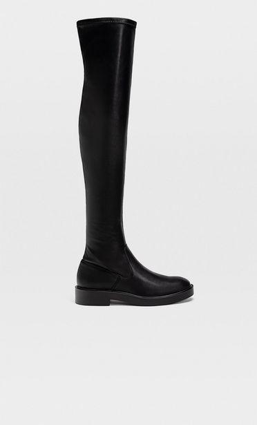 Oferta de Botas altas planas negras por 45,99€