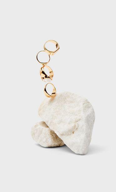 Oferta de Set 4 anillos perla por 5,99€