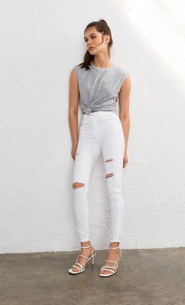 Oferta de Jeans high waist rotos por 15,99€