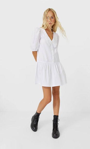 Oferta de Vestido camisero cuello bobo por 9,99€