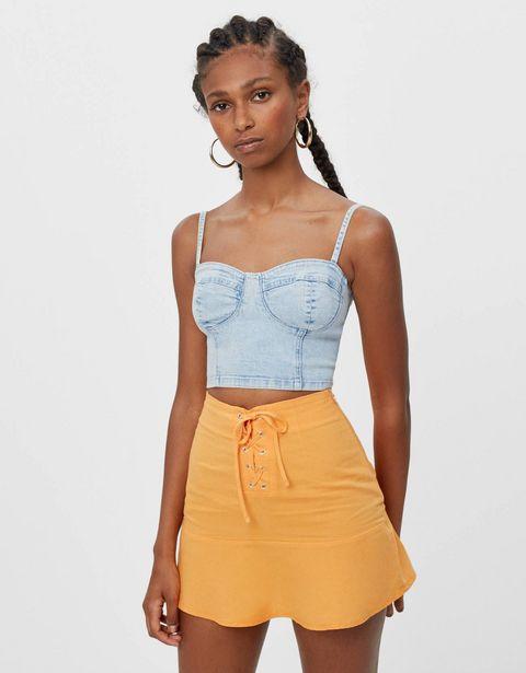 Oferta de Top corset denim por 7,99€