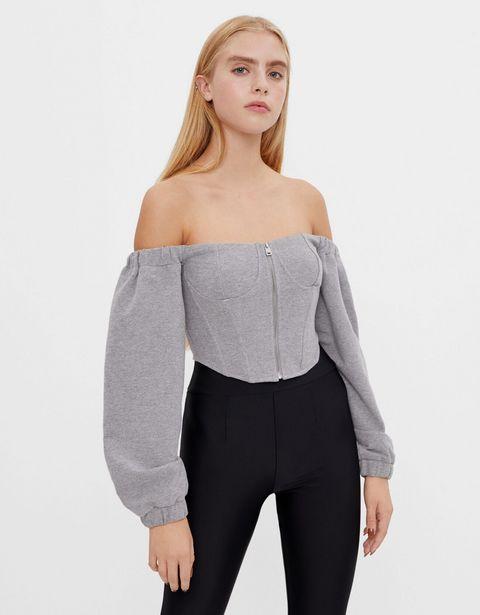Oferta de Top felpa corset por 7,99€