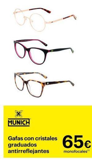 Oferta de Gafas con cristales graduados antirreflejantes Munich por 65€