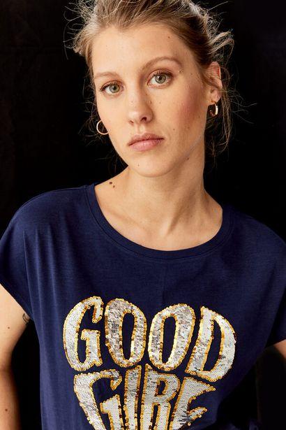 Oferta de Camiseta Texto Glitter por 17,99€