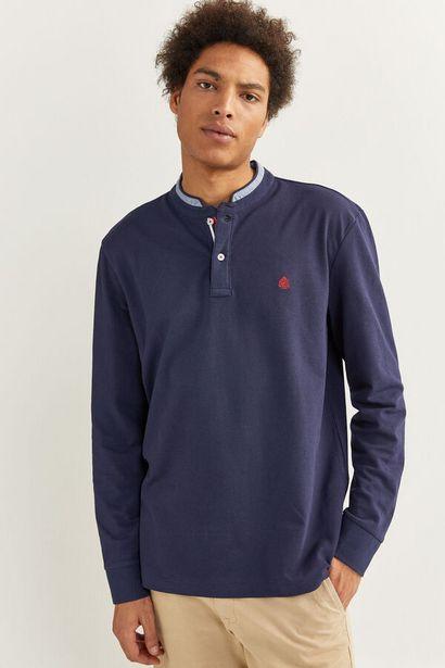 Oferta de Polo manga larga mao chambray por 29,99€