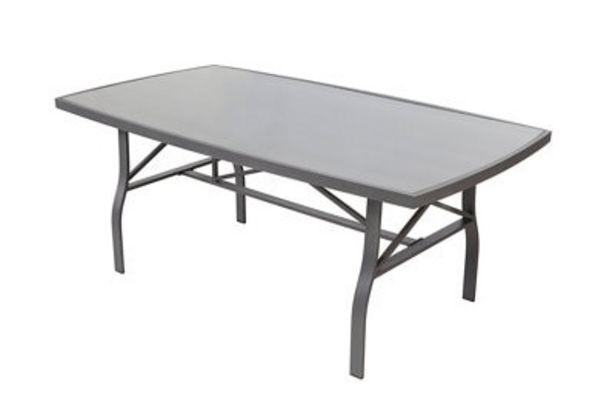 Oferta de Mesa de exterior de aluminio Roma gris de 70x185 cm por 174,6€
