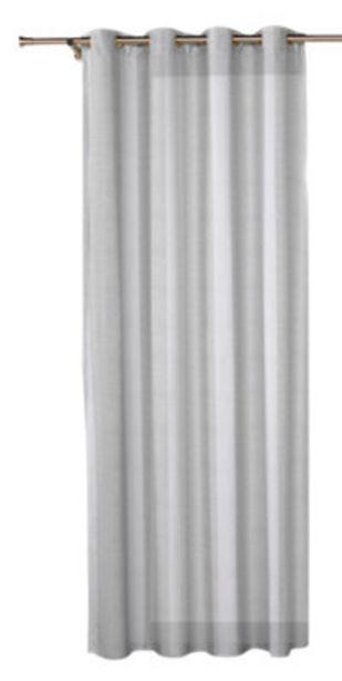 Oferta de Visillo con ollaos Combe blanco 140x270 cm por 37,99€