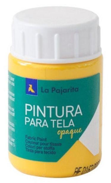 Oferta de Pintura Tela Opaca La Pajarita 35ML To-03 Am Oro por 2€