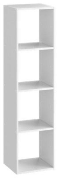 Oferta de Cubo decorativo Kub 4 huecos Blanco 139,2x36 cm por 29,69€