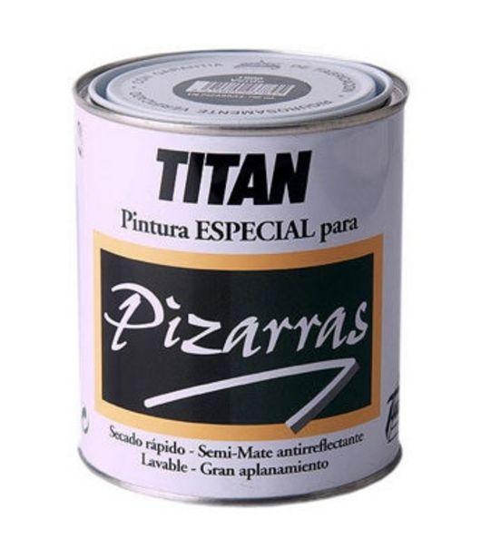 Oferta de Pintura para pizarras TITÁN negro 0,75L por 12,1€