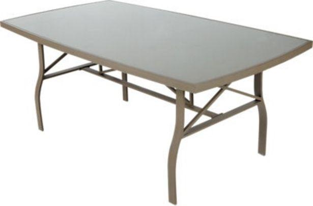 Oferta de Mesa de exterior ROMA de aluminio color marrón 70x100x185 cm por 189€
