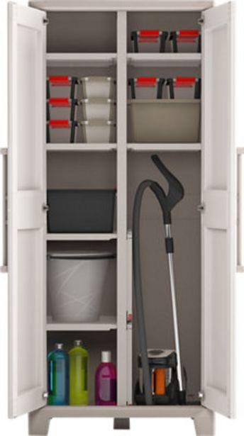 Oferta de Armario escobero Gulliver de 80x182x44 cm para uso interior/exterior por 94,99€