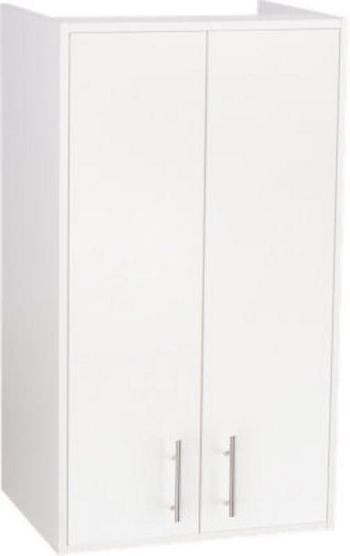 Oferta de Armario de madera en kiten color blanco de 95x54x42 cm con 2 puertas por 52,49€
