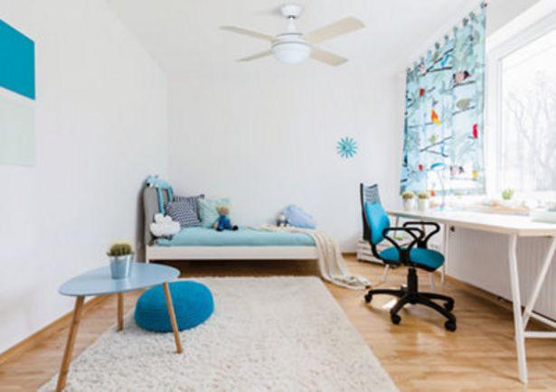 Oferta de Ventilador de techo con luz LED  Arte confort Aveiro 108 cm Blanco DC por 149€