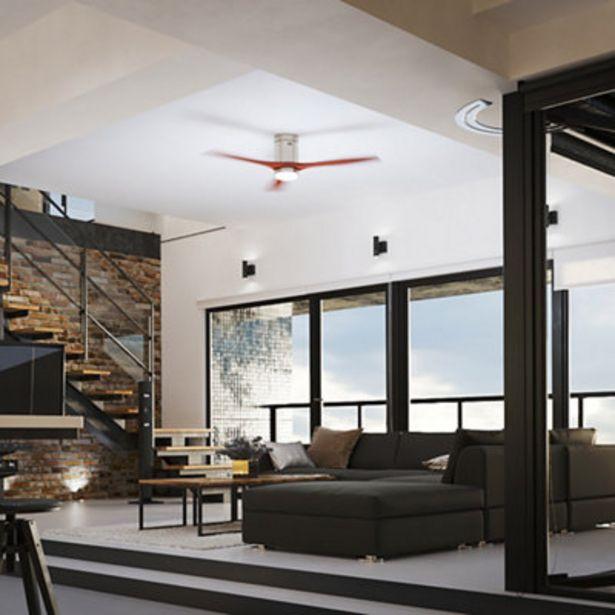 Oferta de Ventilador de techo con luz LED  Leds-C4 Stem Oscuro 137 cm por 321€