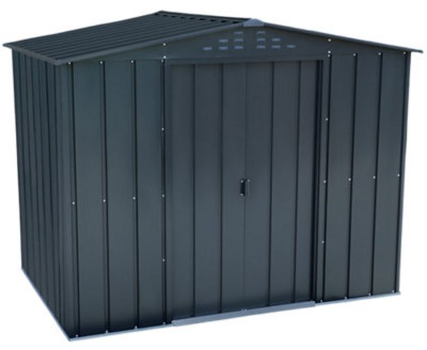 Oferta de Caseta de metal Duramax de 261.2x205.5x183 cm y 4.77 m2 por 329€