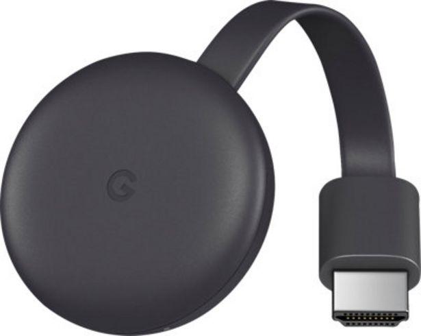 Oferta de Transmisor de audio/vídeo GOOGLE ChromeCast V3 por 34€