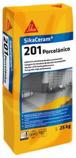 Oferta de Mortero cola porcelánico gris SIKA 25kg. por 12,99€