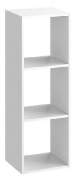 Oferta de Cubo decorativo Kub 3 huecos Blanco 104,8x36 cm por 23,39€