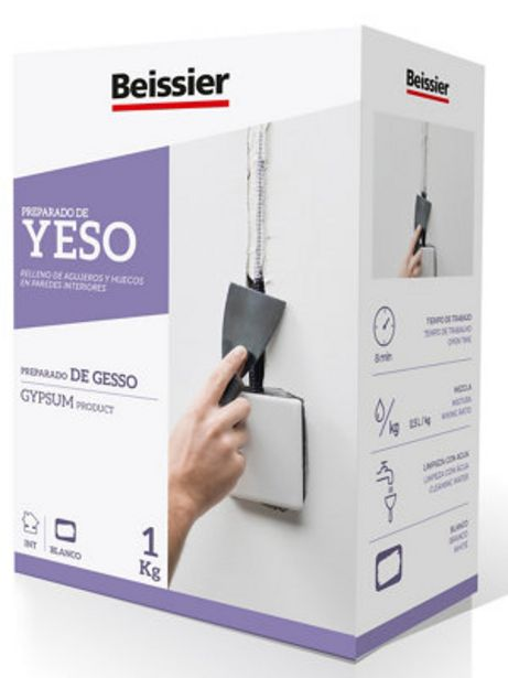 Oferta de Yeso extrafino BEISSIER 1KG por 1,79€
