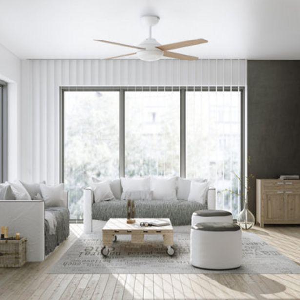 Oferta de Ventilador de techo con luz LED  INSPIRE Shamal 132 cm Blanco DC por 169€