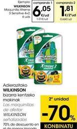 Oferta de Maquinilla Xtreme 3 sensitive  Wilkinson por 6,05€