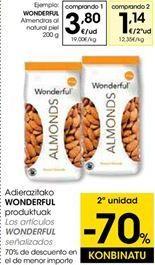 Oferta de Almendras al natural Wonderfull por 3,8€