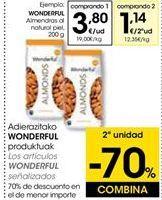 Oferta de Almendras al natural piel Wonderfull por 3,8€