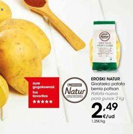 Oferta de Patatas nueva para guisar eroski natur por 2,49€