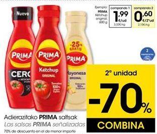 Oferta de Ketchup Prima por 1,99€
