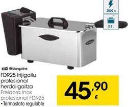 Oferta de Freidora inox profesional  Orbegozo por 45,9€