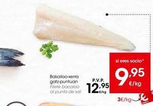 Oferta de Filetes de bacalao al punto de sal por 12,95€