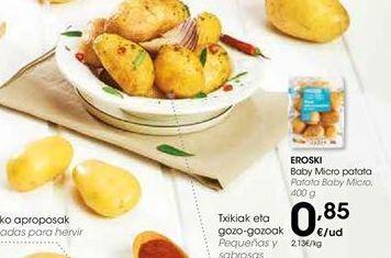 Oferta de Patatas baby Micro  eroski por 0,85€