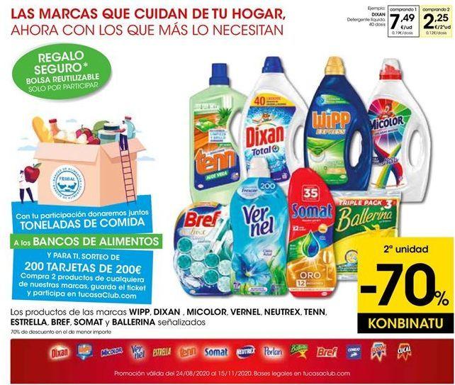 Oferta de Detergente líquido Dixan por 7,49€
