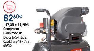 Oferta de Compresor de aire por 82,6€