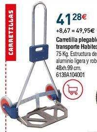 Oferta de Carretilla plegable por 41,28€