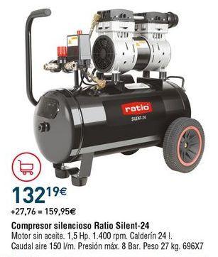 Oferta de Compresor de aire Ratio por 132,19€