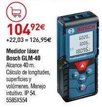 Oferta de Medidor láser Bosch por 104,92€