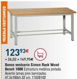 Oferta de Banco de madera por 123,93€