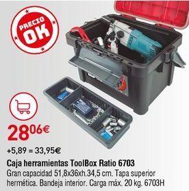 Oferta de Caja de herramientas Ratio por 28,06€