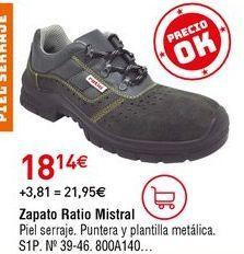 Oferta de Zapatos de seguridad por 18,14€