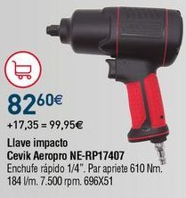 Oferta de Llave de impacto Cevik por 82,6€