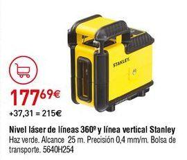 Oferta de Nivel láser Stanley por 177,69€