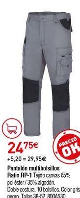 Oferta de Pantalones multibolsillos por 24,75€