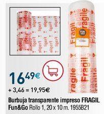 Oferta de Rollo de burbujas por 16,49€