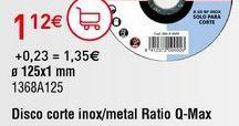 Oferta de Discos de corte Ratio por 1,12€