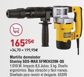 Oferta de Martillo demoledor Stanley por 165,25€